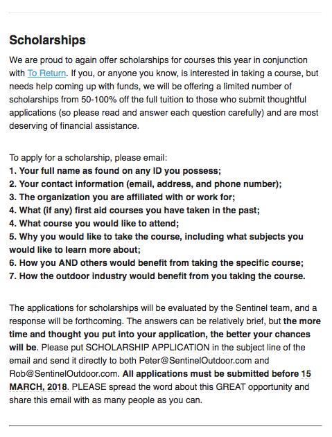 2018 SOI Scholarship Accouncement